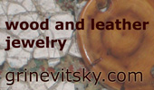 grinevitsky.com wood and leather jewelry